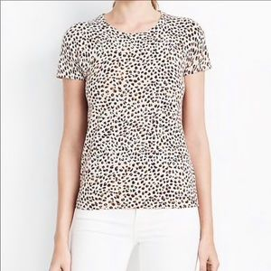 J m. Crew factory leopard top